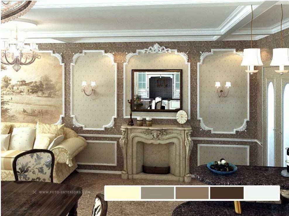 Классическом интерьере декор стен в
