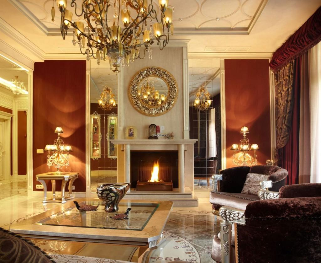 Дизайн камина в классическом стиле