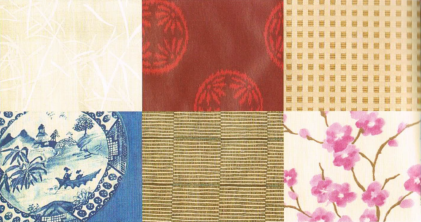 Интерьер в японском стиле текстиль