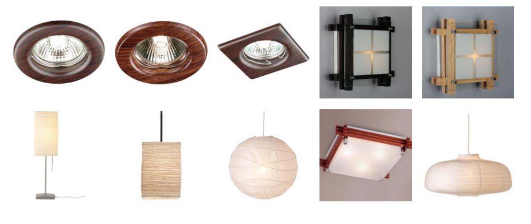Лампы в японском стиле