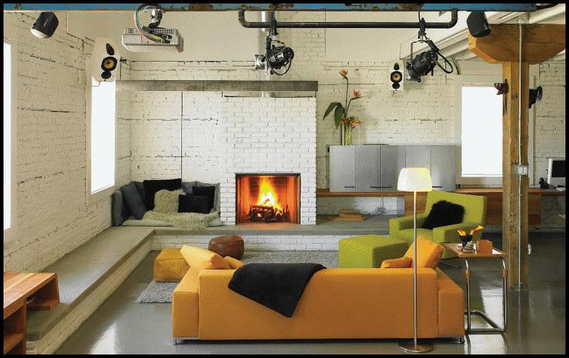 Мебель и текстиль в стиле лофт