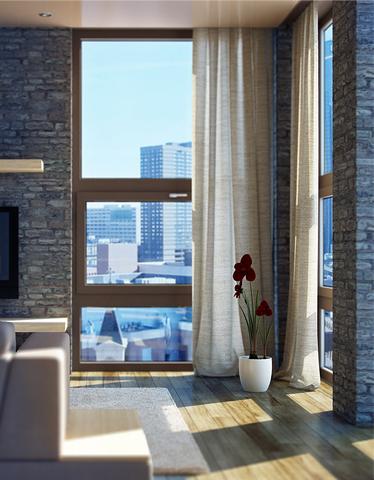 Окна в дизайне интерьера лофт - фото