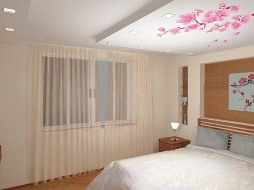 Потолок в дизайне интерьера в японском стиле 1