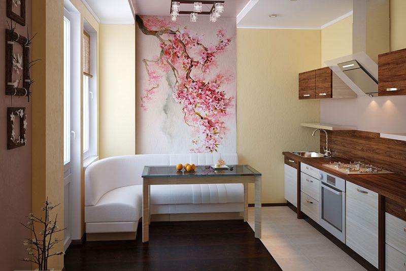 Японский стиль с цветочным мотивом
