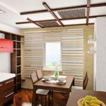 Японский потолок в столовой
