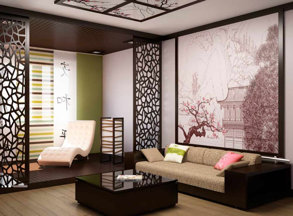 Японский стиль в дизайне интерьера - перегородка