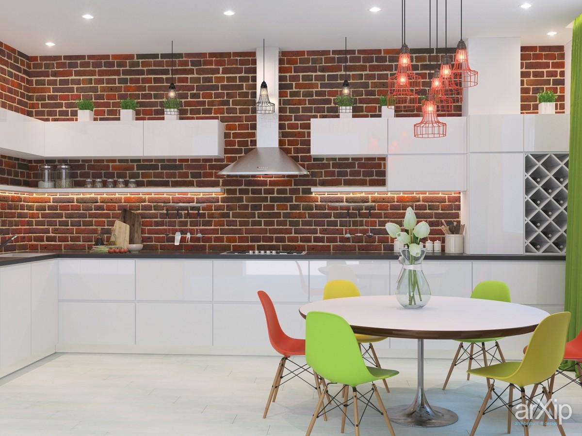 Яркий дизайн кухни лофт - 2