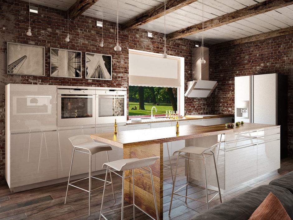 Кухня в стиле лофт -106