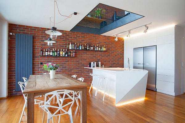 Мебель кухни лофт