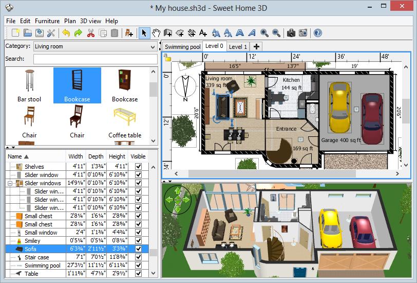 Программа для дизайна sweet-home-3D