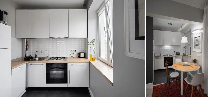 Минимализм в интерьере маленькой кухни