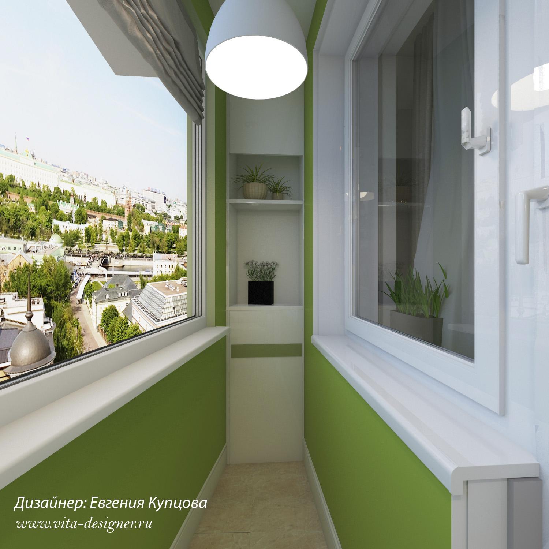 Студия дизайна интерьера балкон
