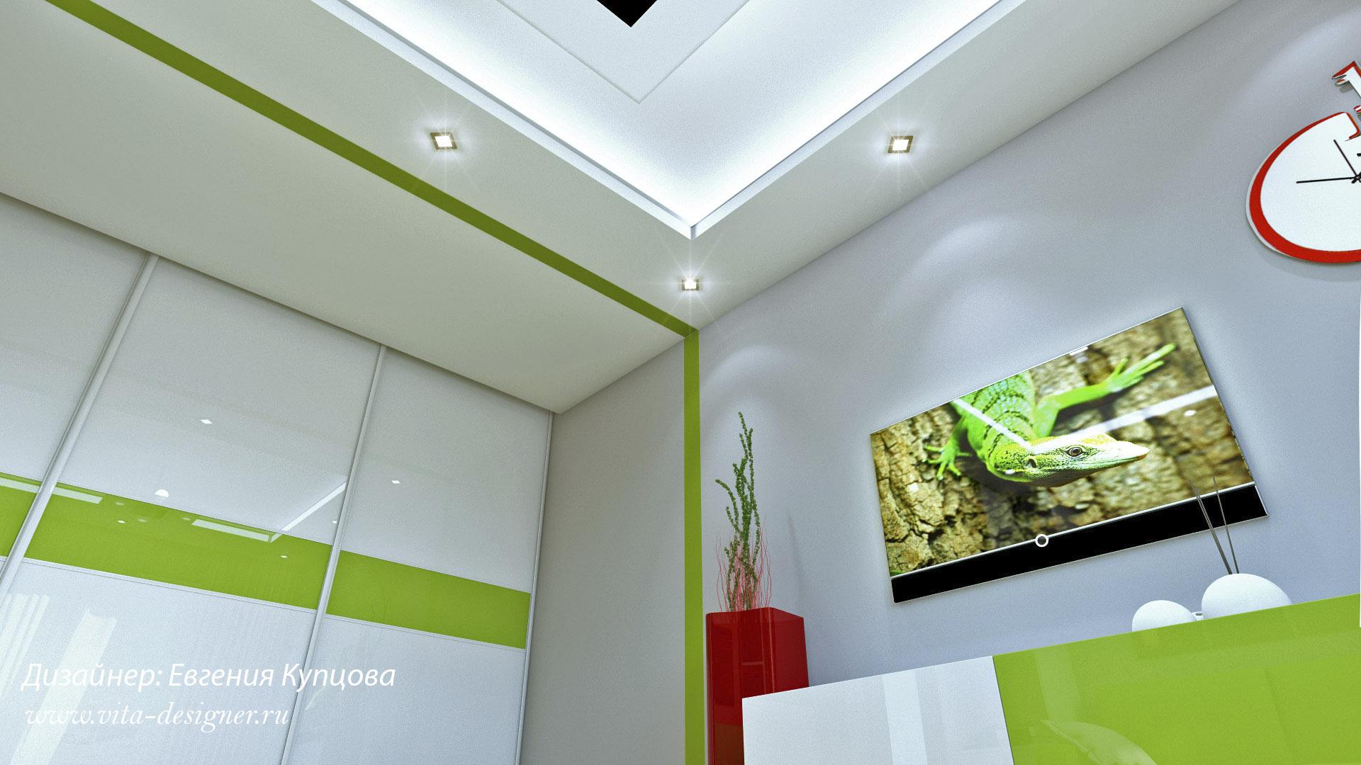 гостиная 4 дизайн интерьера евгения купцова